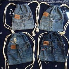 coole Turnbeutel-Rucksäche aus alten jeans nähen