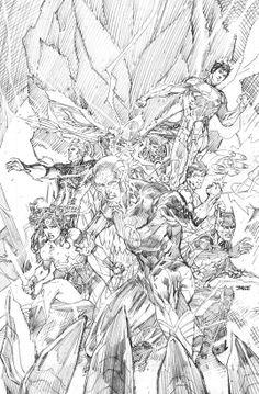 Justice League #11 cover | Jim Lee