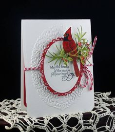 FS303 Cardinal Christmas for Allison by AudreyAnn - Cards and Paper Crafts at Splitcoaststampers