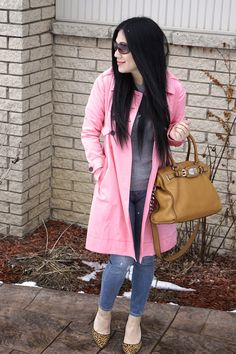 Spring fashion 2015 must have---A Pink Trench Coat!