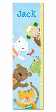 Perfect nursery decor - a personalized growth chart so you can track all the moments! {We love this one from See Me! Personalized Books For Kids, Personalized Gifts, Baby Nursery Bedding, Nursery Decor, Personalized Growth Chart, Growth Charts, Kid Rooms, Children's Books, Projects For Kids