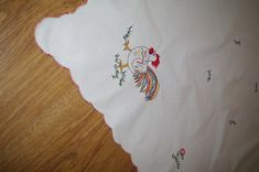 Excited to share the latest addition to my #etsy shop: Polish White Easter Table Runner Embroidered Rooster Flowers Cottage chic Tablecloth Polish Folk Table topper Dresser scarf Napkin https://etsy.me/2IdLwqH