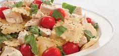 Chicken, Tomato, and Fresh Mozzarella Ravioli Salad