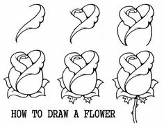 How to draw a rose bud rose bud step by step flowers pop how to draw flower drawings steps sketch coloring page ccuart Image collections