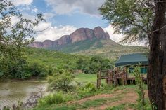 The view over the dam at Tlopi Tented Camp in Marakele National Park. Photo by Melanie van Zyl Camping Spots, Tent Camping, Camping Hacks, Africa Painting, River Camp, Farm Stay, Luxury Camping, Family Camping, Lake View