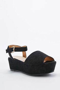8d4bff2ea8a1 Deena   Ozzy Cady 2-Part Flatform Shoes in Black