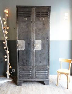 """How about vintage lockers in the breakroom to give employees a place to keep all their """"stuff"""".....old school!"""