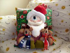 Almofadas de Natal... super criativa... perfeita