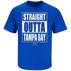 Straight outta Tampa Bay (and damn proud of it). GO LIGHTNING! - Short Sleeve - 100% Cotton - Screen Printed - Pre-Shrunk - Proudly Licensed only by the 1st Amendment - All designs are the protected i
