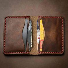 Handmade Leather Wallet, Leather Card Wallet, Diy Mens Wallet Pattern, Front Pocket Wallet Men, Minimalist Leather Wallet, Handmade Wallets, Leather Watch Bands, Leather Accessories, Leather Men