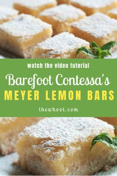 tutorial recipe meyer lemon video whoot bars the Meyer Lemon Bars Recipe Video Tutorial The WHOotYou can find Meyer lemon recipes and more on our website Lemon Dessert Recipes, Gourmet Recipes, Cooking Recipes, Healthy Sweet Snacks, Nutritious Snacks, Healthy Breakfasts, Protein Snacks, High Protein, Sweet Treats