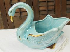 vintage swan planter