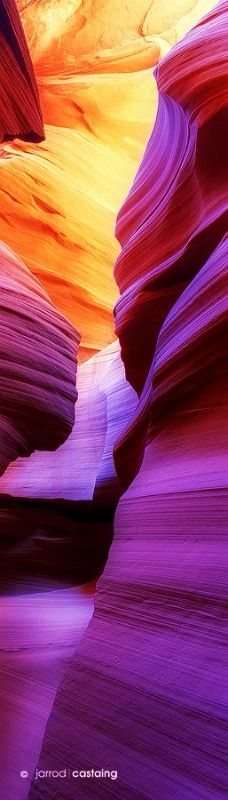 When visiting the USA try to get out west to the beautiful Indian country and see some spectacular slot canyons in Arizona, USA.