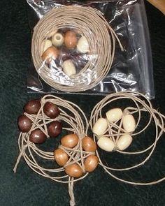Natural Hemp & Wood Beaded Pentacle by crochetcronesdesigns, $4.50