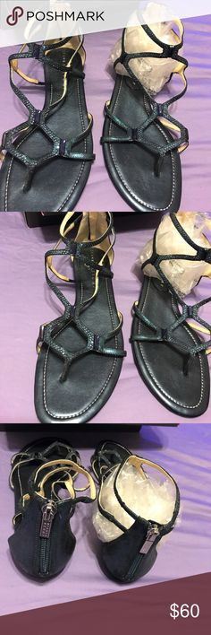 Ivanka Trump shoes ,Color is metallic blue Shoes, worn once, excellent condition Ivanka Trump Shoes Sandals