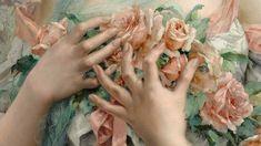 Caress #caress #art #painting #details #flowers #victorian #pink #green #hands #oil