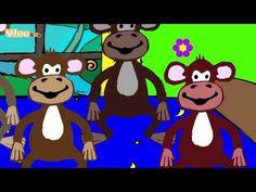 Fünf kleine Affen - Five Little Monkeys / Zweisprachiges Kinderlied / Deutsch - Englisch Yleekids - YouTube