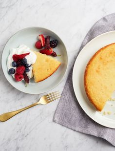 How to make an Almond Flour Lemon Yogurt Cake, aka a healthy, easy dessert or brunch dish