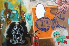 "Saatchi Online Artist Arturo Correa; Painting, ""Birth of a superhero"" #art"