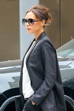 Mastering the Daytime Updo: Victoria Beckham Puts a Sleek Twist on the Messy Knot