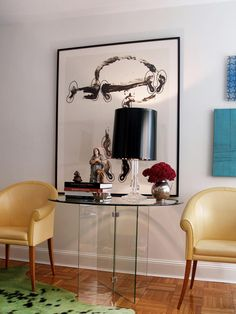Oval Shaped glass table, glass table base perfect for the entry way