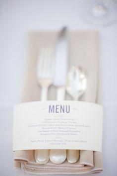 Print het menu op de servetring