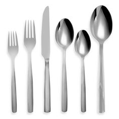 product image for Ginkgo Simple 42-Piece Stainless Steel Flatware Set