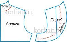 Выкройка жакета болеро - чертеж 3