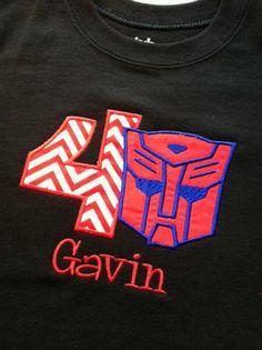 Boys Transformer Birthday Shirt by PrissyThingsBowtique on Etsy, $23.00