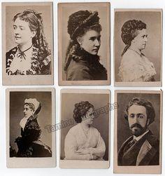 Opera Singers - Set of 6 Vintage CDVs