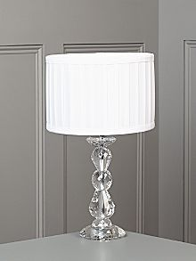 Clarence crystal table lamp - white #HOFatHOME