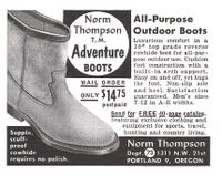 Norm Thompson Adventure Boots 1956 Ad Picture