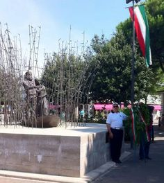 Monumento commemorativo dello sbarco di Garibaldi con Anita a Magnavacca che ha poi preso il nome di Porto Garibaldi.