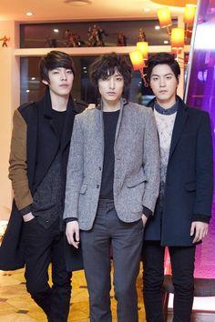 hong jong hyun, kim woo bin, and lee soo hyuk
