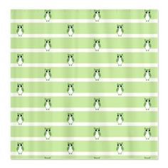 Green #Owl Pattern Shower Curtain Cute and trendy green owls pattern springy shower curtain $45.99 #homedecor #bath