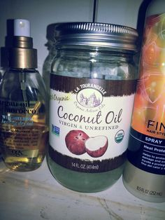 Coconut oil and argan oil the best for hair! !! All products bought @target!