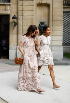 Lace maxi dress inspiration.