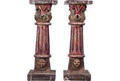 Carved Venetian Pedestals, Pair on OneKingsLane.com  #designisneverdone
