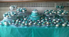 Teal and Silver wedding.