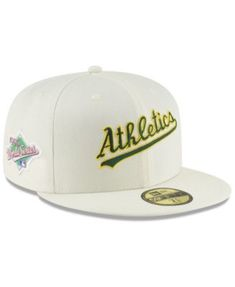 e3a3a5327 New Era Oakland Athletics Vintage World Series Patch 59FIFTY Cap - White 7