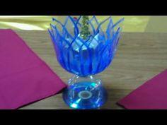 FLOR DE LOTO  (Rosa del Nilo) CON BOTELLAS DE PLASTICO ,portavelas centro de mesa,regalo ,etc. - YouTube Plastic Bottle Crafts, Recycle Plastic Bottles, Creative Crafts, Diy And Crafts, Recycled Bottles, Cardboard Crafts, Hand Embroidery Designs, Miniture Things, Candle Making