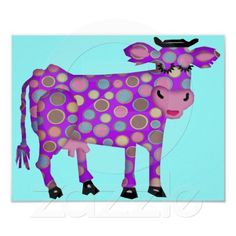 Shop Purple Cow Poster created by ElainePlesser. Cow Sketch, All Things Purple, Purple Stuff, Purple Cow, Custom Posters, Cows, Design Your Own, Custom Framing, All The Colors