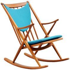 Frank Reenskaug Rocking Chair for Bramin, Denmark, 1960 1