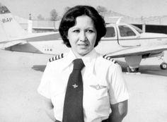 Akram Monfared Arya, first lady pilot of Iran.  She has five children!