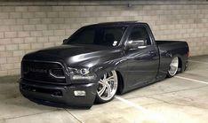 Lowered Trucks, Ram Trucks, Cool Trucks, Chevy Trucks, Single Cab Trucks, Kustom, Dream Cars, Badass, Dodge Pickup