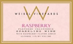 NV Weibel Family - Sparkling Raspberry Wine 750ml -- Learn more by visiting the image link.