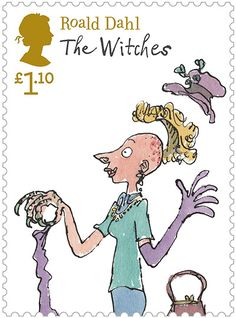 Everyone must have read a book or two, if not the whole collection by Roald Dahl and the unforgettable illustrations by Quentin Blake.  The Witches stamp