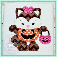 Girly Ghost Applique halloween appliques Pinterest