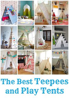 Pinner: kids teepee | my kids would love any of these, which I think are the best teepees ...