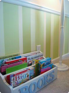 Striped walls - good for a girl or a boy @Lisa Knakal-Bergkoetter, @Jodi Rochowiak if I could enlist some help?